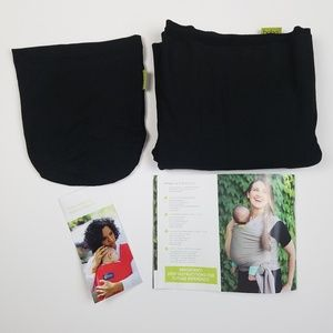 boba Accessories - Boba Black Baby Wrap 0-36 Months 7-35 Lbs